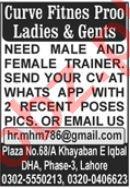 Cuts & Curves Ladies & Gents Gym Lahore Jobs 2021