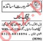Nawaiwaqt Sunday Classified Ads 3rd Jan 2021 Teaching Staff