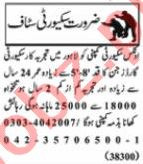 Nawaiwaqt Sunday Classified Ads 3rd Jan 2021 for Security