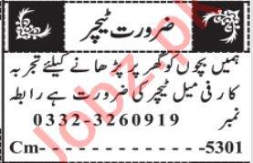 Teacher & Subject Teacher Jobs 2021 in Quetta