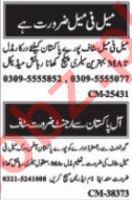 Call Operator & Telephone Operator Jobs 2021 in Islamabad
