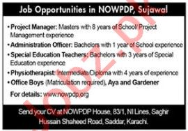 Physiotherapist & Manager Jobs 2021 in NOWPDP Sujawal