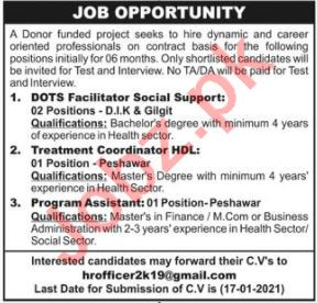 DOTS Facilitator & Treatment Coordinator HDL Jobs 2021
