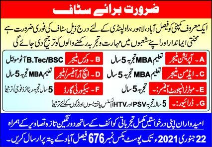 Operation Manager and Works Manager Jobs 2021