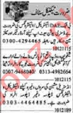 Dunya Sunday Classified Ads 10 Jan 2021 for Technical Staff