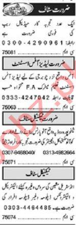 Khabrain Sunday Classified Ads 10 Jan 2021 Office Staff