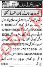 Khabrain Sunday Classified Ads 10 Jan 2021 for Security