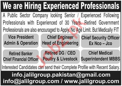 Jalil Group Jobs 2021 for Vice President & Chief Engineer
