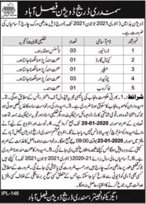 Drainage Division Jobs 2021 For Miscellaneous Staff