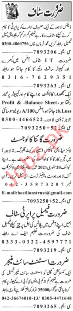 Media Assistant & Software Engineer Jobs 2021 in Lahore