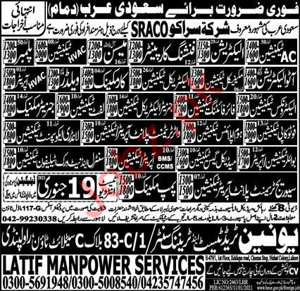 Auto Electrician & Lift Technician Jobs 2021 in Saudi Arabia