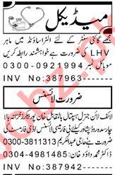 Lady Health Visitor & Pharmacist Jobs 2021 in Peshawar