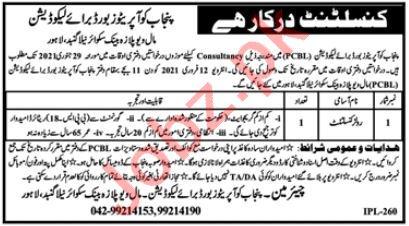 Punjab Cooperative Board for Liquidation PCBL Lahore Jobs