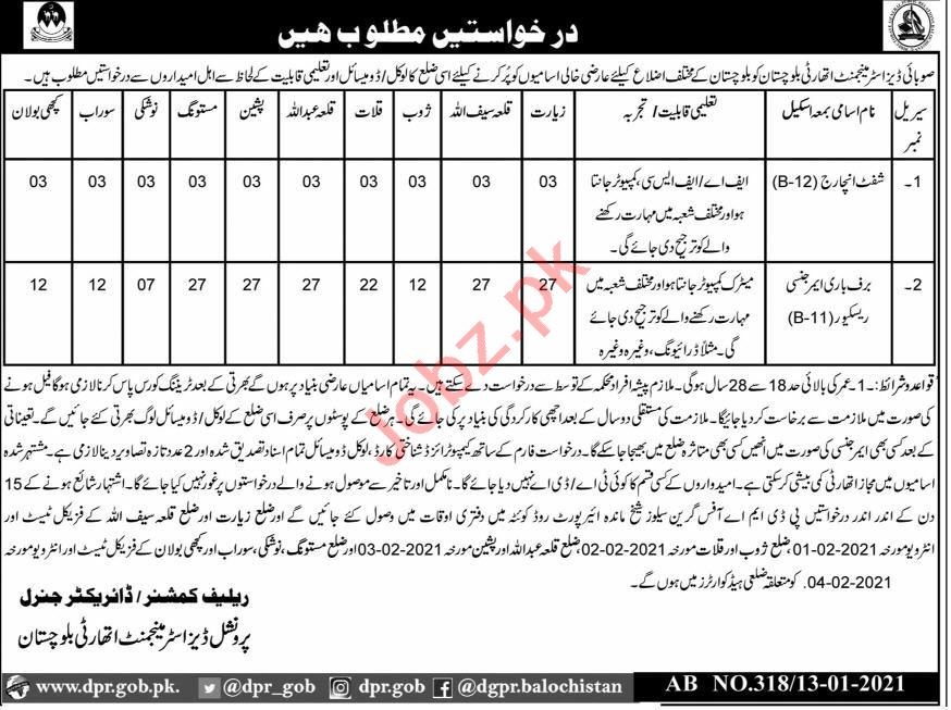 Provincial Disaster Management Authority PDMA Jobs 2021