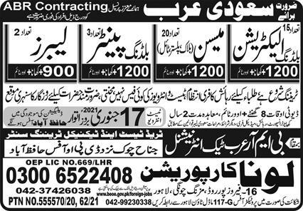 Electrician Building Painter Labor Jobs in Saudi Arabia