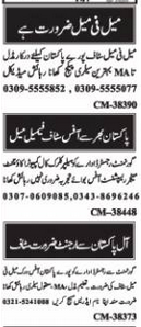 Computer Operator Accountant Manager Jobs in Islamabad