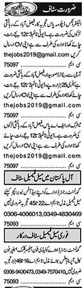 Clerk Call Operator Office Boy Jobs in Lahore