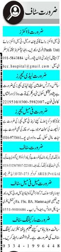 Daily Mashriq Management Jobs 2021