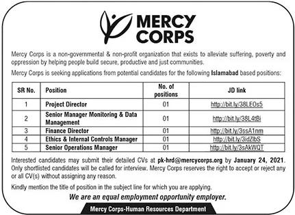 Project Director Finance Director NGO Jobs in Islamabad