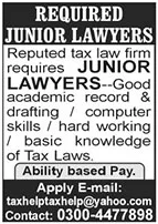 Lawyer Job in Lahore