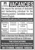 The Educators Jobs 2021 om Rawalpindi