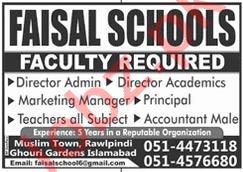 Faisal Model School Teaching & Non Teaching Staff Jobs 2021