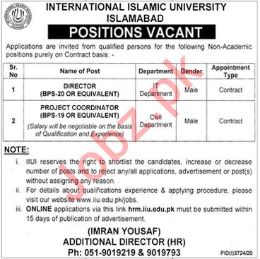 Management Jobs in International Islamic University