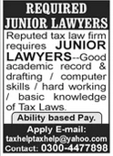 Junior Lawyer Jobs in Lahore