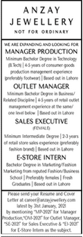 Manager Production Outlet Manager Jobs in Lahore
