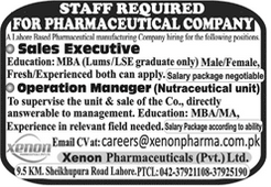 Sales Executive Operation Manager Jobs in Lahore