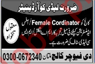 Female Coordinator Jobs in The Future College