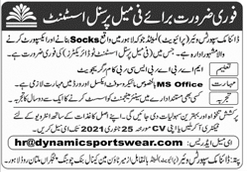 Personal Assistant Job in Lahore