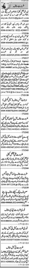 Daily Dunya Newspaper Sunday Classified Jobs 17 Jan 2021