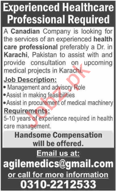 Healthcare Professional Jobs in Canadian Company
