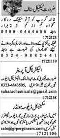 Daily Dunya Sunday Classified Technical Jobs 17 Jan 2021