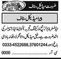 Daily Khabrain Sunday Classified Medical Jobs 17 Jan 2021