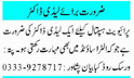 Daily Mashriq Sunday Classified Medical Jobs 17 Jan 2021
