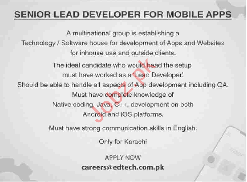 Mobile Apps Developer Jobs in Multinational Group