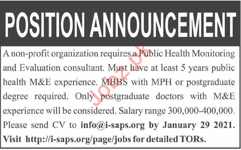 Monitoring & Evaluation Consultant Jobs in NGO