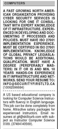 Daily Dawn Newspaper Classified Computer & IT Jobs 2021