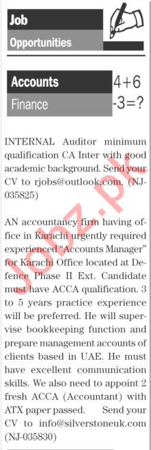 Daily The News Sunday 17th January Accounts Staff Jobs 2021