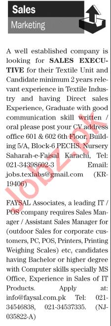 Sales Executive Sales Manager Jobs in Karachi