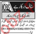Security Supervisor & Driver Jobs 2021 in Islamabad
