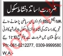 Coordinator & Subject Specialist Jobs 2021 in Multan