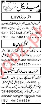 Child Specialist & LHV Jobs 2021 in Peshawar