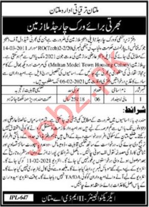 Multan Development Authority MDA Multan Jobs 2021
