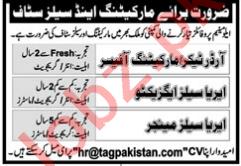 Order Taker & Marketing Officer Jobs 2021 in Islamabad