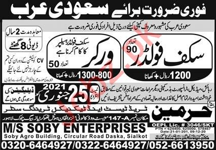 Scuff Folder & Worker Jobs 2021 in Saudi Arabia