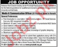Pakistan Red Crescent Society PRCS Karachi Jobs 2021