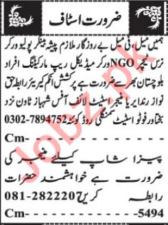 Medical Rep Marketing Officer & Nurse Jobs 2021 in Quetta